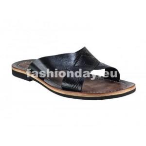 Pánske kožené sandále čierne