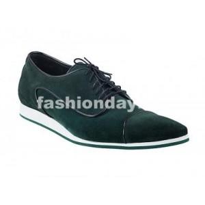 Pánske kožené športové topánky zelené