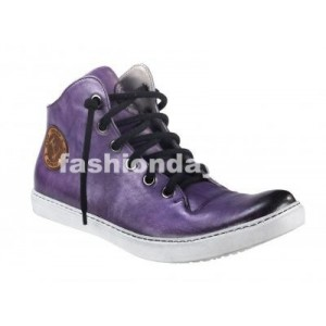 Pánske kožené športové topánky fialové