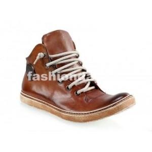 Pánske kožené športové topánky hnedé