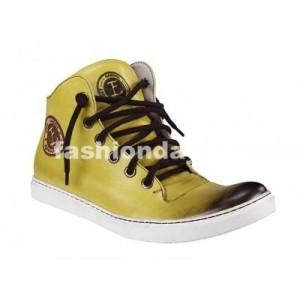 Pánske kožené športové topánky žlté