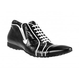 Pánske kožené športové topánky čierne ID:426