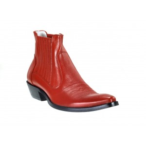 Pánske kožené kovbojky červené ID:600