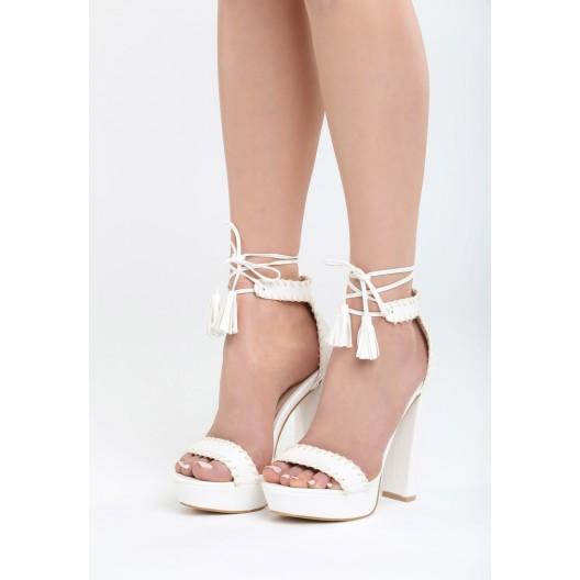 biele-sandale