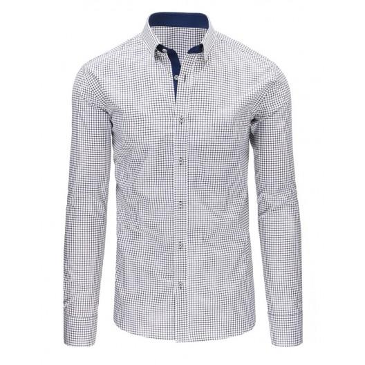 Kockovaná košeľa čierno bielej farby