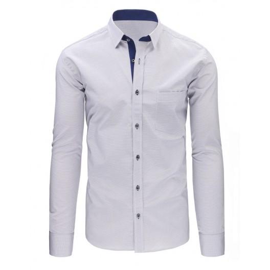 Elegantné košele sivo bielej farby