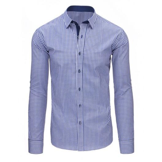 Modrá košeľa s dlhým rukávom