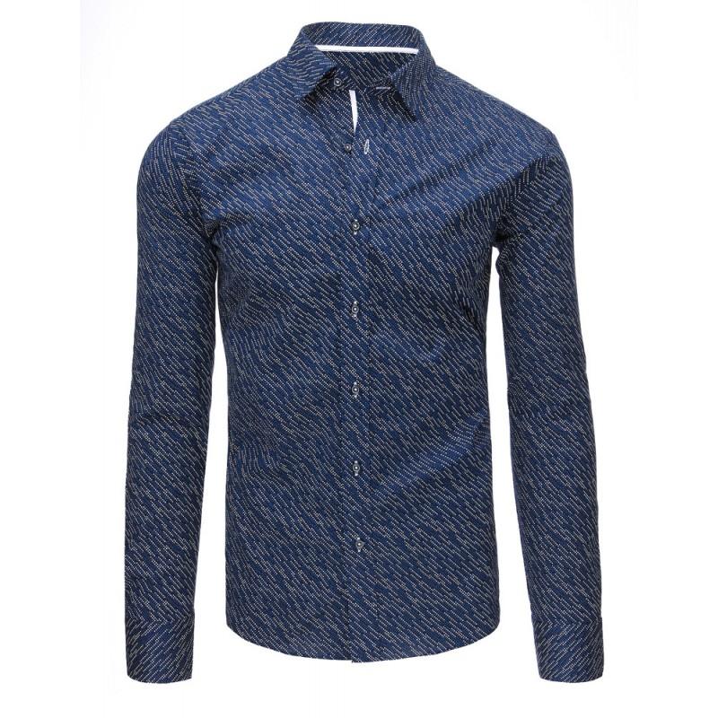 Luxusné košele v tmavo modrej farbe 9c2383eae7e