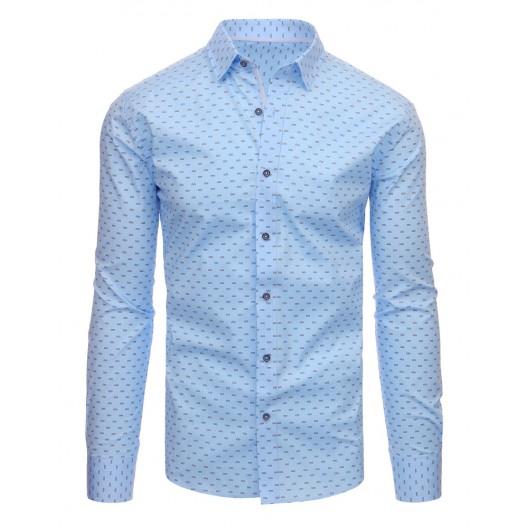 Moderné košele pánske modrej farby
