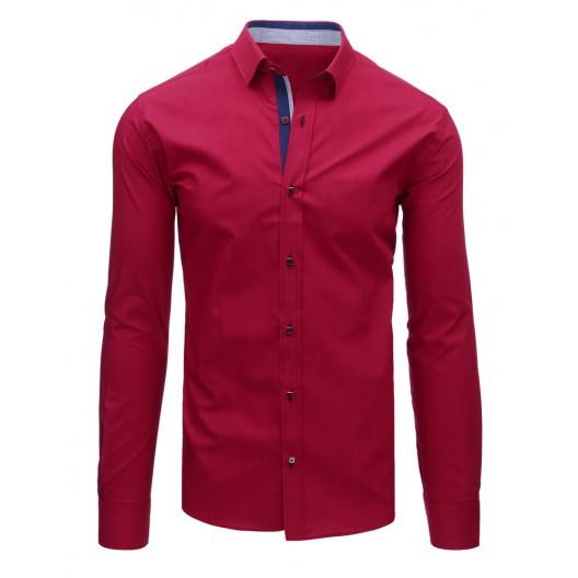 Pánska košeľa bordovej farby