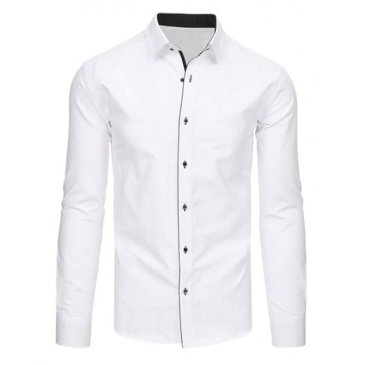 Košele pánske moderné bielej farby