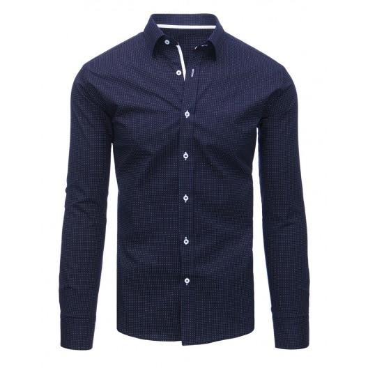 Pánska bodkovaná košeľa modrej farby