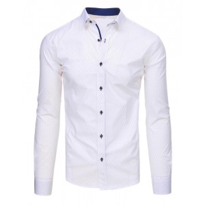 Biela košeľa s bodkami