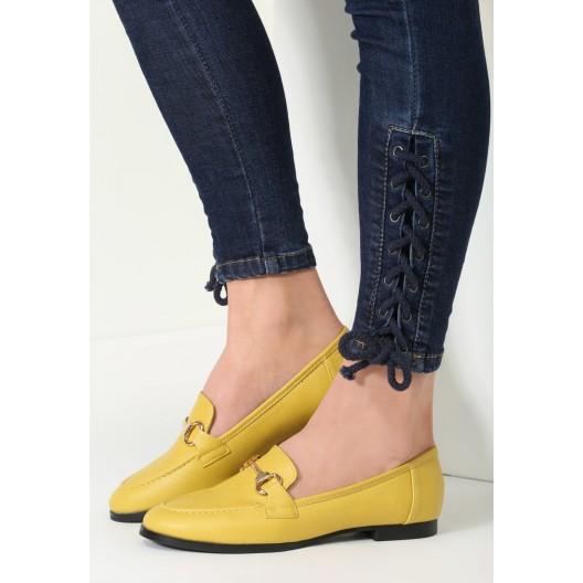 Mokasíny pre dámy v žltej farbe
