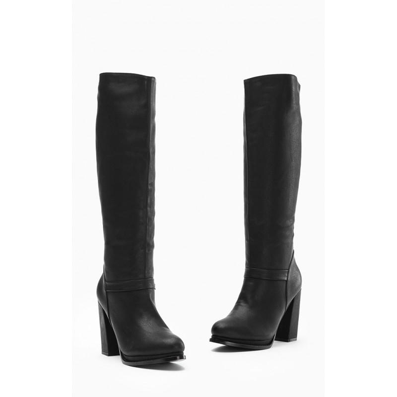 Dámske čižmy čiernej farby - fashionday.eu bea6c983cdb