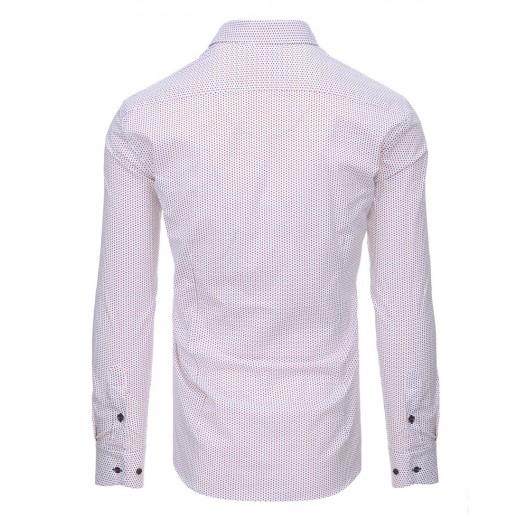 Slim fit košele bielej farby