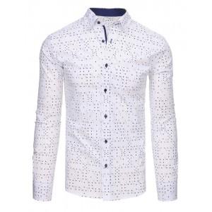 Biela košeľa pánska so vzorom