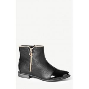 Dámske lakované topánky čierne