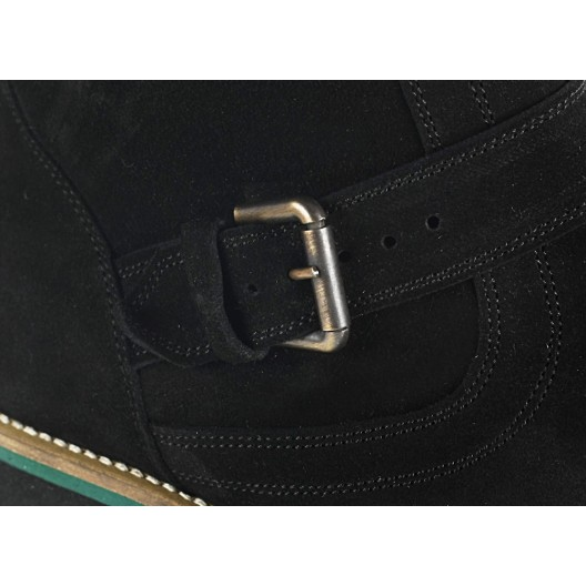 Pánske kožené čižmy čierne ID:457