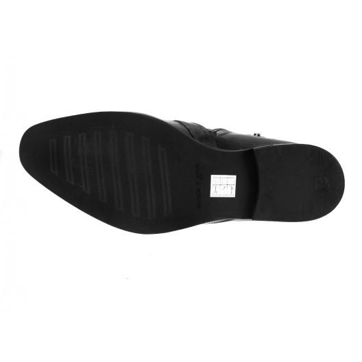 Pánske kožené čižmy čierne