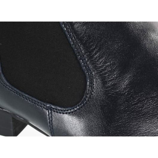 Pánske kožené topánky čierne
