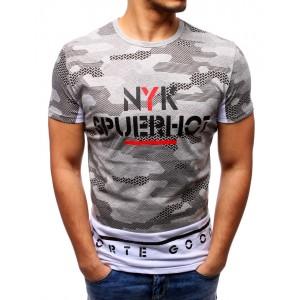 Pánske maskáčové tričko sivej farby