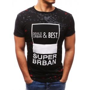 Čierne tričko s bielym nápisom