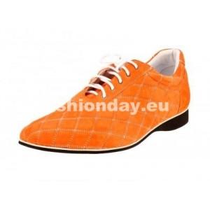 Pánske kožené športové topánky oranžové