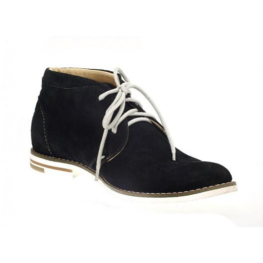 Pánske kožené topánky čiernej farby