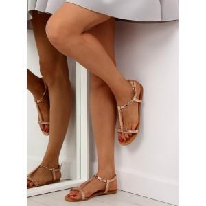 Letné sandále v ružovej farbe