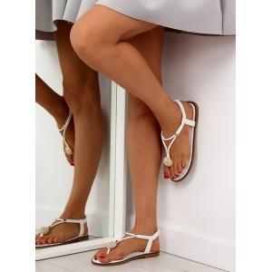 Biele sandále dámske