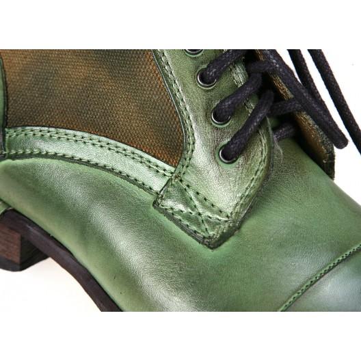 Pánske kožené čižmy zelenej farby