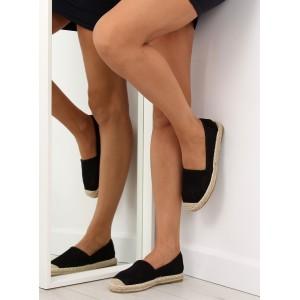 Espadrilky dámske v čiernej farbe