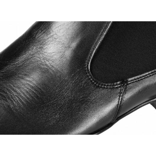 Pánske kožené čižmy čiernej farby