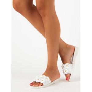 265374dfdbad Moderné biele dámske tenisky s elegantnou zlatou špičkou - fashionday.eu