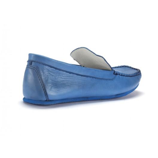 Mokasíny pánske v modrej farbe