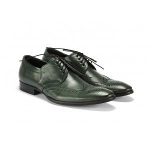 Kožené topánky zelenej farby