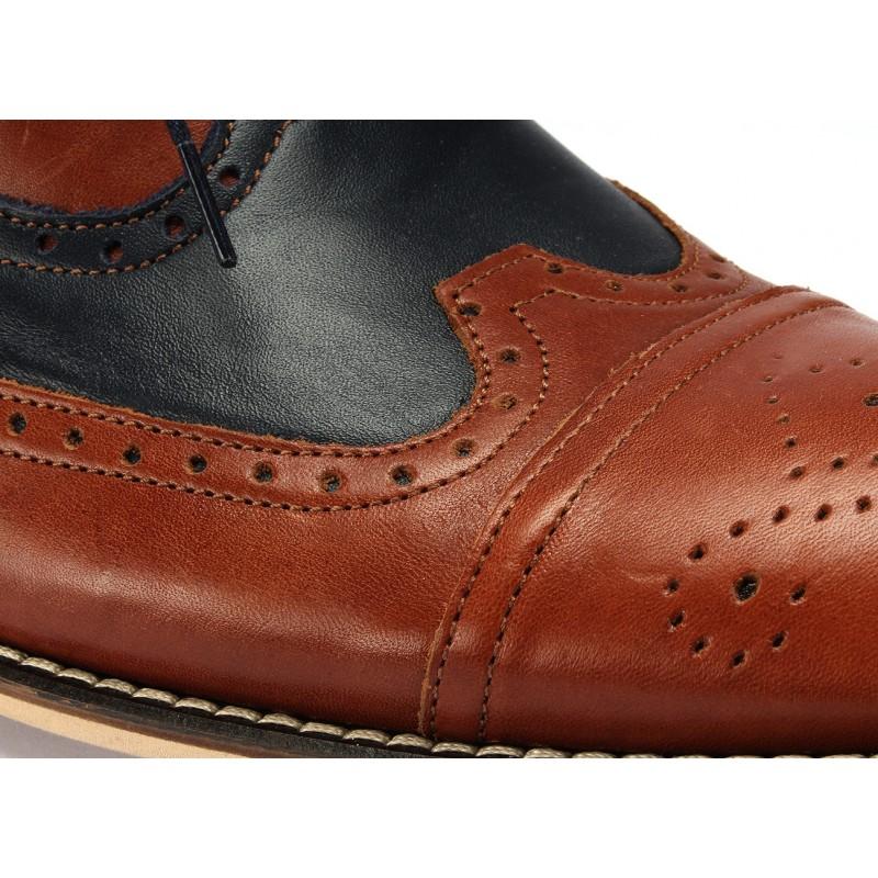 a13a0a06516 Pánske kožené topánky do spoločnosti