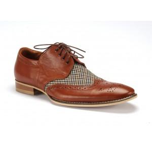 COMODO E SANO spoločenské kožené topánky