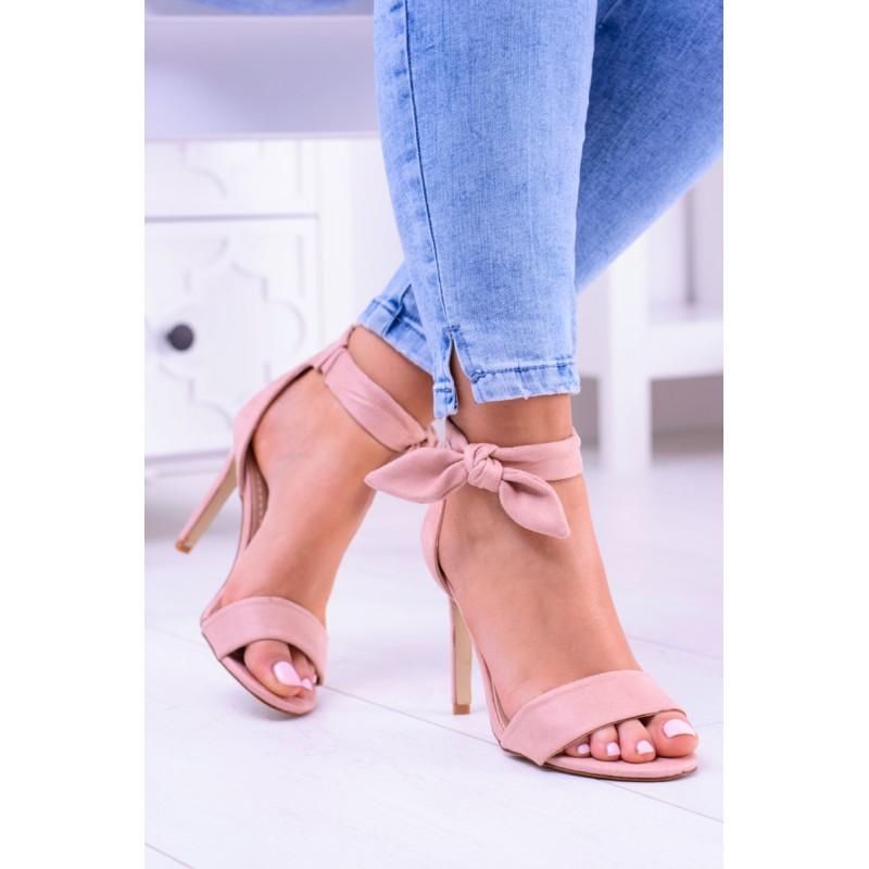 8a0052d0b46a Ružové sandále s mašličkou