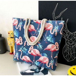 Látkové kabelky na pláž tmavo modré