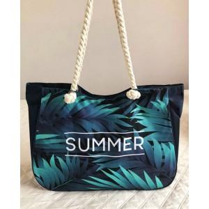 Taška na pláž s modrým vzorom