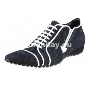 Pánske kožené športové topánky tmavomodré