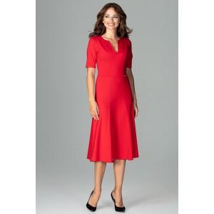 Pekné letné šaty v červenej farbe