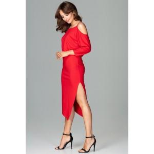 Elegantné šaty v červenej farbe