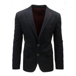 Moderné čierne sako pre mužov