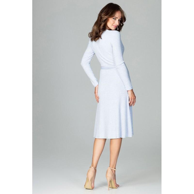 5a2d5e97103e Modré šaty voľné