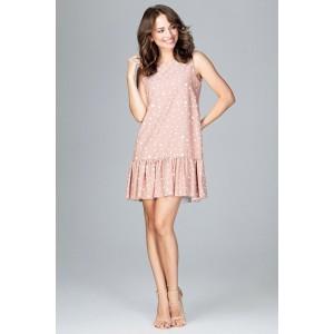 Bodkované šaty rúžové