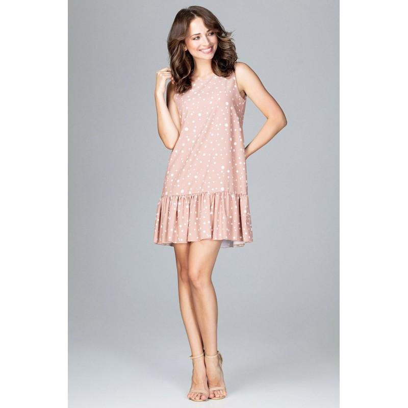 297409097ae0 Bodkované šaty rúžové