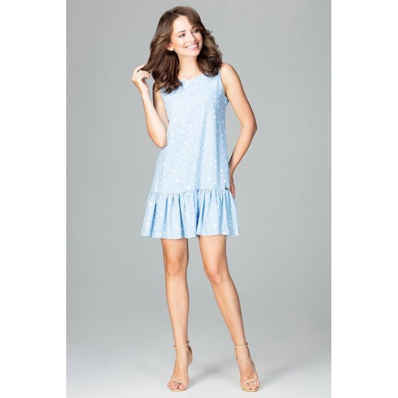 46832e1d693c Bodkované šaty svetlo modré